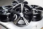 "14"" Black Wheels Rims 4x100 Integra Escort Accord Civic Insight Fit Kia Rio MX5"