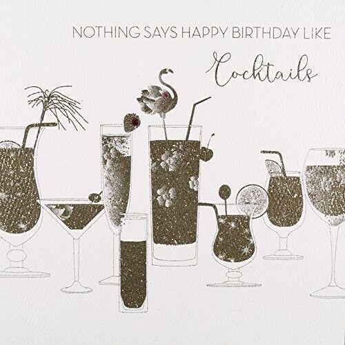 Rien ne dit Joyeux Anniversaire comme Cocktails #GS1 fait main carte de vœux par fi...