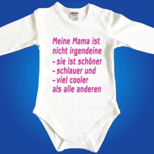 Frei wählbar Babybody Baby Body Die coolste Oma Opa Mama Papa Tante Onkel