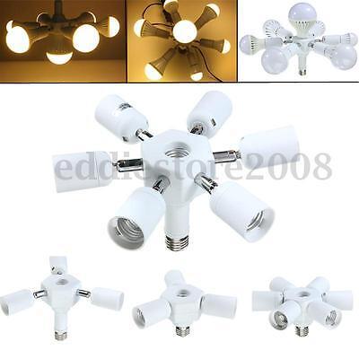 3/6 in 1 Adjustable E27 Base Light Lamp Bulb Adapter Holder Socket Splitter