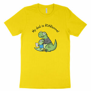 My-Dad-039-s-ROARsome-Awesome-Fathers-Day-Kawaii-Cute-Dinosaur-Shirt-Unisex-T-Shirt