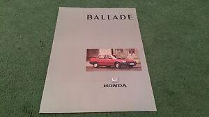 January-1989-HONDA-BALLADE-EX-EXi-SALOON-UK-BROCHURE-Invercars-Stamp-Civic