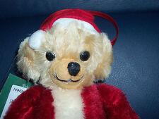 """New 6"""" Merrythought Cheeky Little Santa Mohair Teddy Bear Ornament Ltd Ed # 47"""