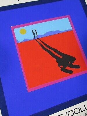 "ERNEST TROVA at Pace 7.25/"" x 7.25/"" Serigraph 1968 Pop Art Blue Red"
