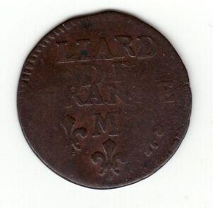 Louis-XIV-1697-M-copper-Liard-Toulouse-mint