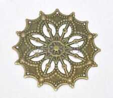 50 Pcs Bronze Tone Filigree Flower Wraps Connector Embellishments Findings 43mm