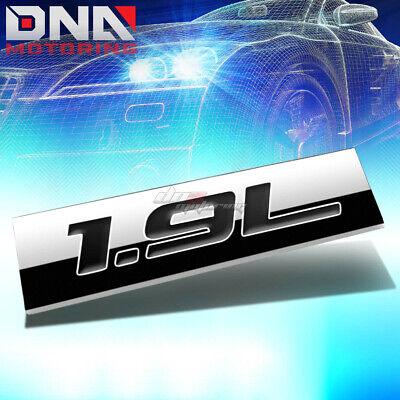 1x Metal Emblem Decal Logo Trim Badge 2.4L Replacement For Universal Cars Chrome Black