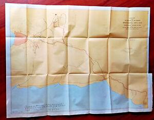 1898 Color Sketch Map General Bates Campaign Santiago Cuba Spanish American War
