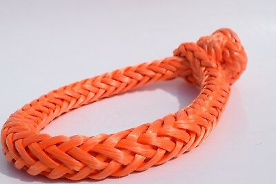 20mm*150mm Orange Soft Shackles,ATV Winch Shackle,Synthetic Rope Shackle