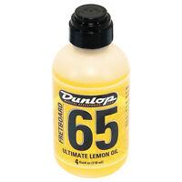 Dunlop Fretboard 65 Ultimate Lemon Oil Fretboard Conditioner, 4 Oz. +picks