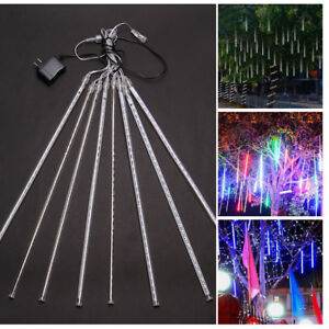 50CM-LED-Meteor-Shower-Falling-Star-Rain-Drop-Icicle-Snow-Fall-Xmas-Fairy-Light
