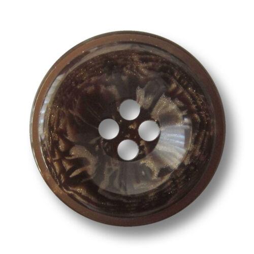 1039mb-23 5 eindrucksvoll braun melierte Vierloch Kunststoff Knöpfe