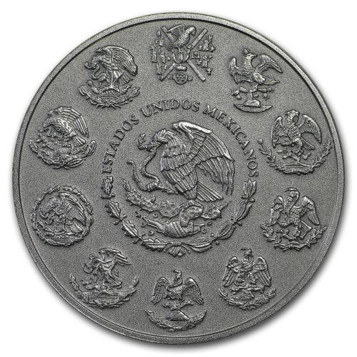 SKU#180839 2018 Mexico 1 oz Silver Libertad Antiqued Finish
