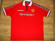 MINT Manchester United Umbro XXL 1998/00 Treble Sharp Home shirt jersey 99 1999