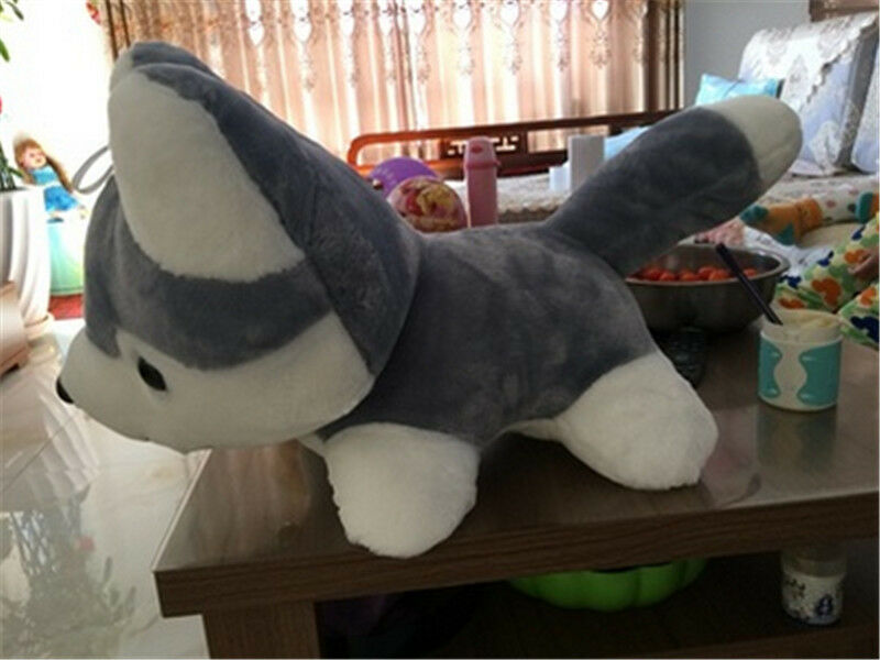 35'' Giant big hung Husky Dogs Plush soft Toys Simulated Animals Doll kids gifts
