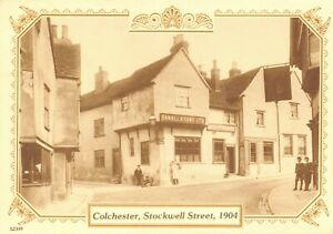 Reproduction-Vintage-1904-Postcard-Colchester-Stockwell-Street-82T