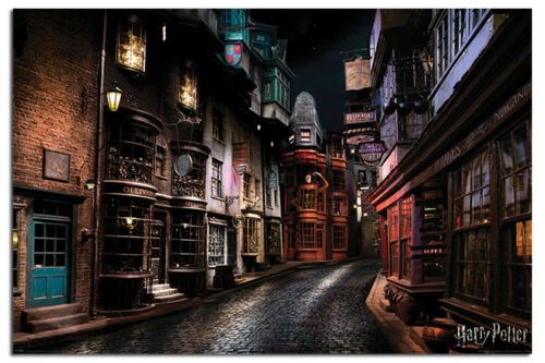 Maxi Size 36 x 24 Inch Harry Potter Diagon Alley Poster New