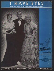 I-Have-Eyes-1938-Bing-Crosby-in-Paris-Honeymoon-Sheet-Music