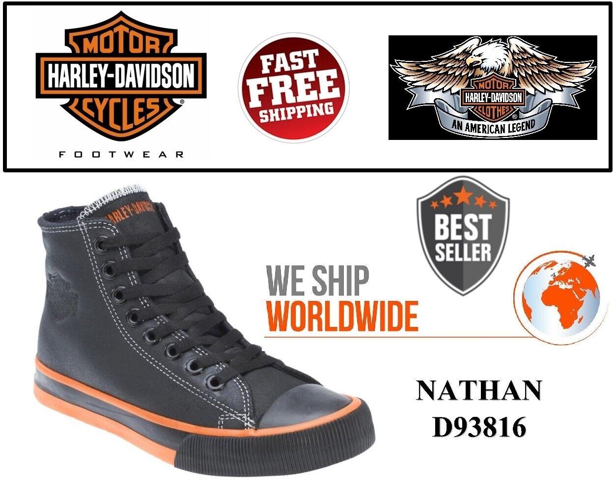 Harley-Davidson ® D93816 para hombre Nathan Negro Hi-Top zapatillas zapatos-Usa Company