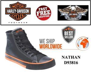 dc32af47a889 Harley-Davidson® D93816 Mens Nathan Black Hi-Top Sneakers Shoe- USA ...