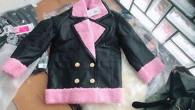 Original Kenzo x H&M hm Lederjacke mit Teddyfutter Damen Jacke M new   eBay