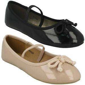 Spot On Girls Ballerina Flat Shoes
