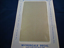 MICROSCALE DECALS PS-3 1/16 GOLD CHECKERS NEW
