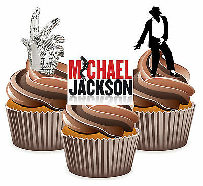 Amazing Michael Jackson Mix Fun Fully Edible Birthday Cup Cake Toppers Personalised Birthday Cards Cominlily Jamesorg