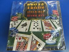Texas Hold 'Em Casino Night Card Suits Poker Theme Party Paper Luncheon Napkins