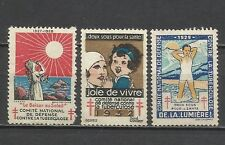 162-SELLO FRANCIA BENEFICOS CONTRA LA TUBERCULOSIS.1929,1932 Y 1927.BENEFICOS.