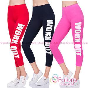 Work-Out-Leggings-Fitness-Wear-Printed-Running-3-4-Pants-UK-8-22-LWO34