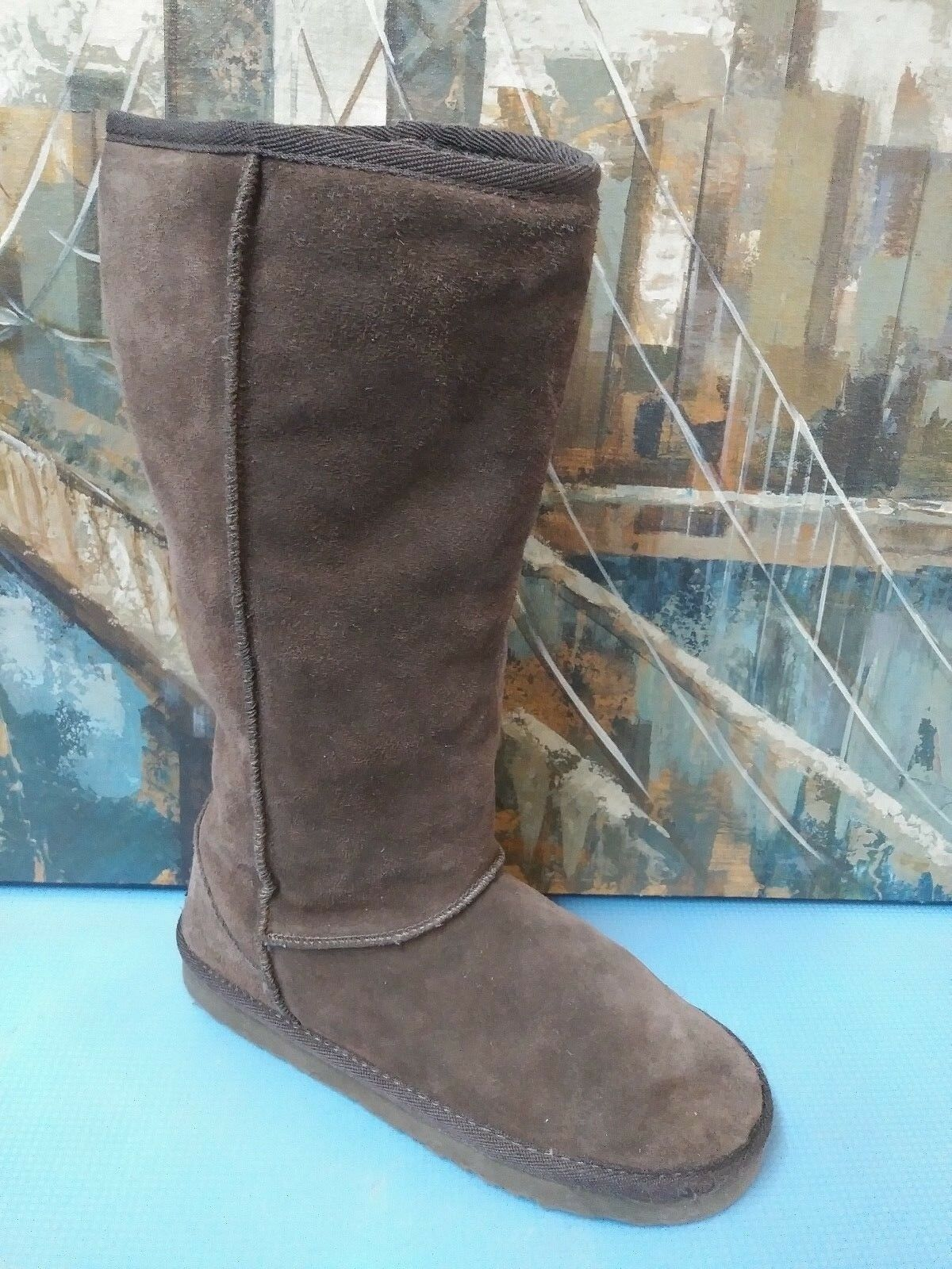 Skechers Womens  Brown Suede Ankle Boots 46382  Shoes sz 6.5 M