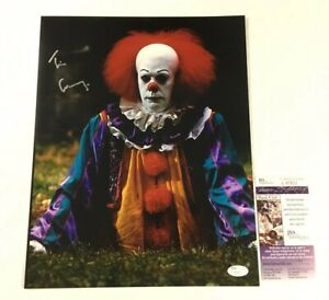 Tim Curry Signed 12x18 Photo JSA Coa Pennywise Clown IT Movie