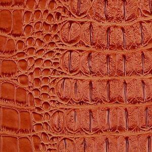 Orange Metallic Gator Upholstery Vinyl Fabric Sold By The Yard