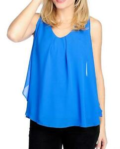 NEW-Marc-Bouwer-Knit-amp-Woven-Sleeveless-Pleated-Front-Hi-Lo-Top-Sz-M-or-1X