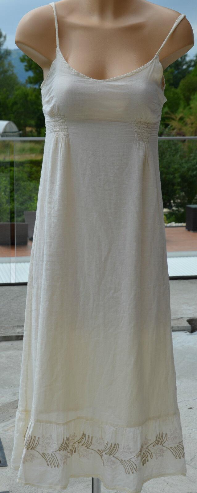 La Fée Maraboutée Großartig Langes Kleid Beige Gefüttert Größe 36