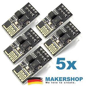5x-ESP01-ESP8266-Modul-ESP-01-Seriell-Wireless-Transciever-WLAN-WiFI-Arduino