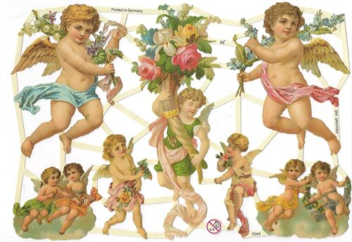 Chromo EF Découpis Anges 7244 Decoupage Collage Carterie