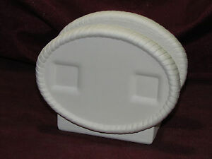 Ceramic Bisque Napkin Holder for Inserts Ready to Paint U-Paint Dona's Seasons