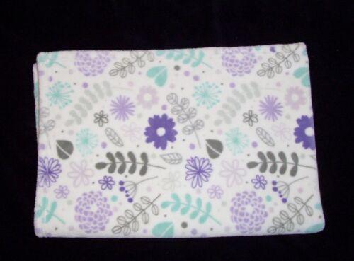 Little Miracles Lovables Baby Blanket Flowers Leaves Purple Grey Aqua Costco