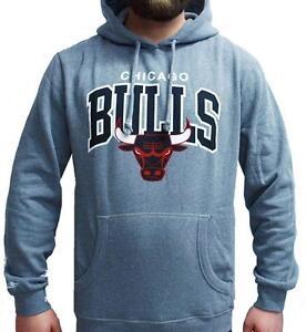 Grigio Uomo Ness Arch Cappuccio Chicago Con Team Bulls Felpa Nba Mitchell gHwzq