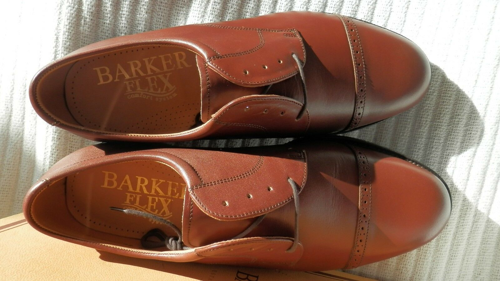 Barker Flex Staines Brown Calf Leather Derby Rubber Sole Fitted UK 9H .