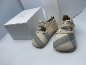 BURBERRY-Pale-Robyn-Classic-Nova-Check-Baby-Shoes-Size-EU-19