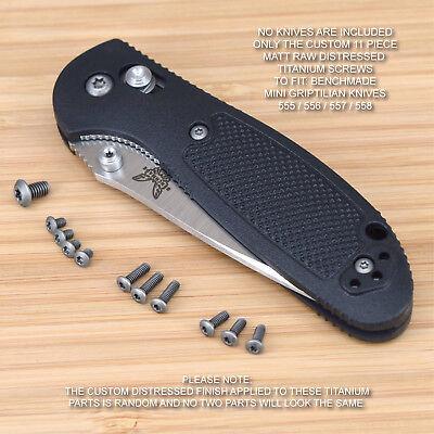 Benchmade 555 556 557 558 Mini Griptilian 11PC Replacement BLUE Titanium Screws