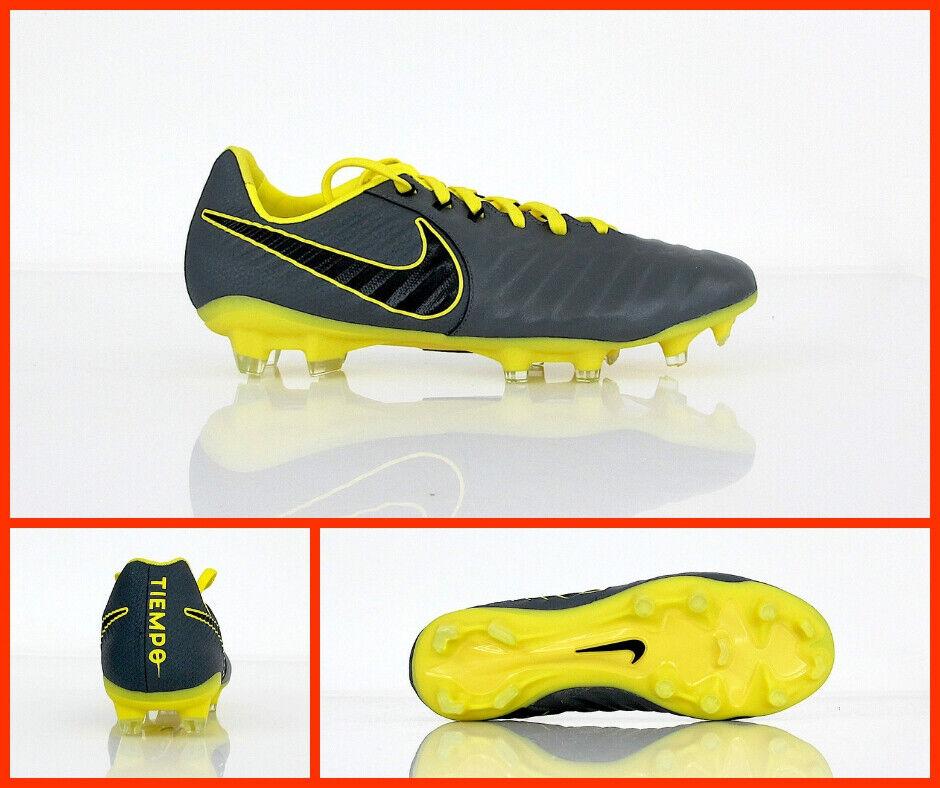 NIKE zapatos calcio TIEMPO LEGEND 7 PRO FG AH7241 070 gris amarillo febbraio 2019