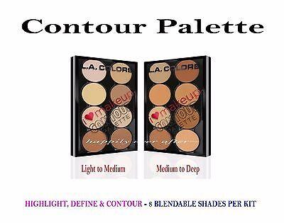 2 PCs L.A. Colors Contour Palette- Highlight, Define, Contour- Full Set 2 Shades