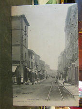 cpa 69 pontcharra sur turdine grande rue animee rails tramway