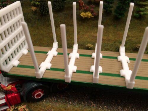 Code 3 1:48 échelle 6 x Logging ridelles /& 1 x Tête de lit en pla
