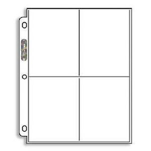 10) Ultra Pro 3 1/2 x 5 Photo / Card 4-Pocket Album Pages 3.5 x 5 ...