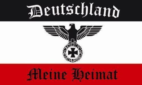 Fahne Flagge Deutschland meine Heimat 30 x 45 cm Bootsflagge Premiumqualität
